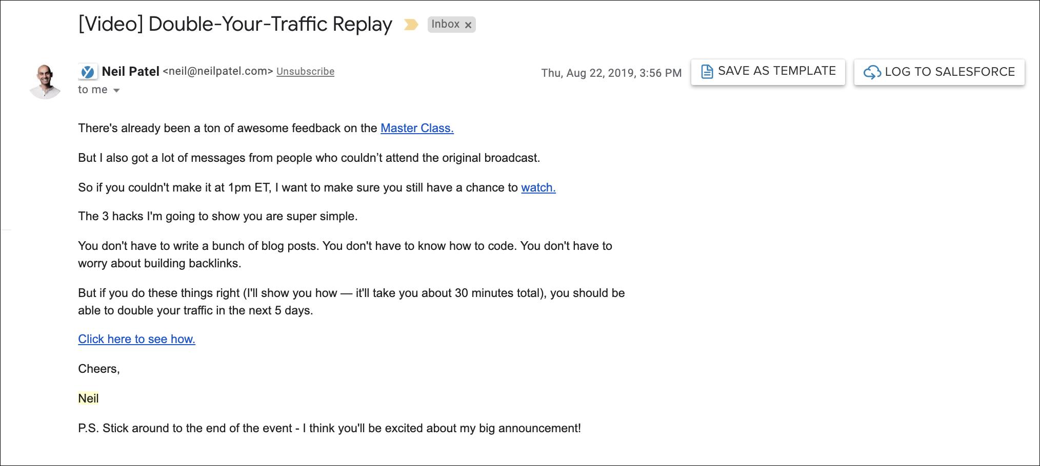 Drip Campaign Examples: Webinar Follow Ups