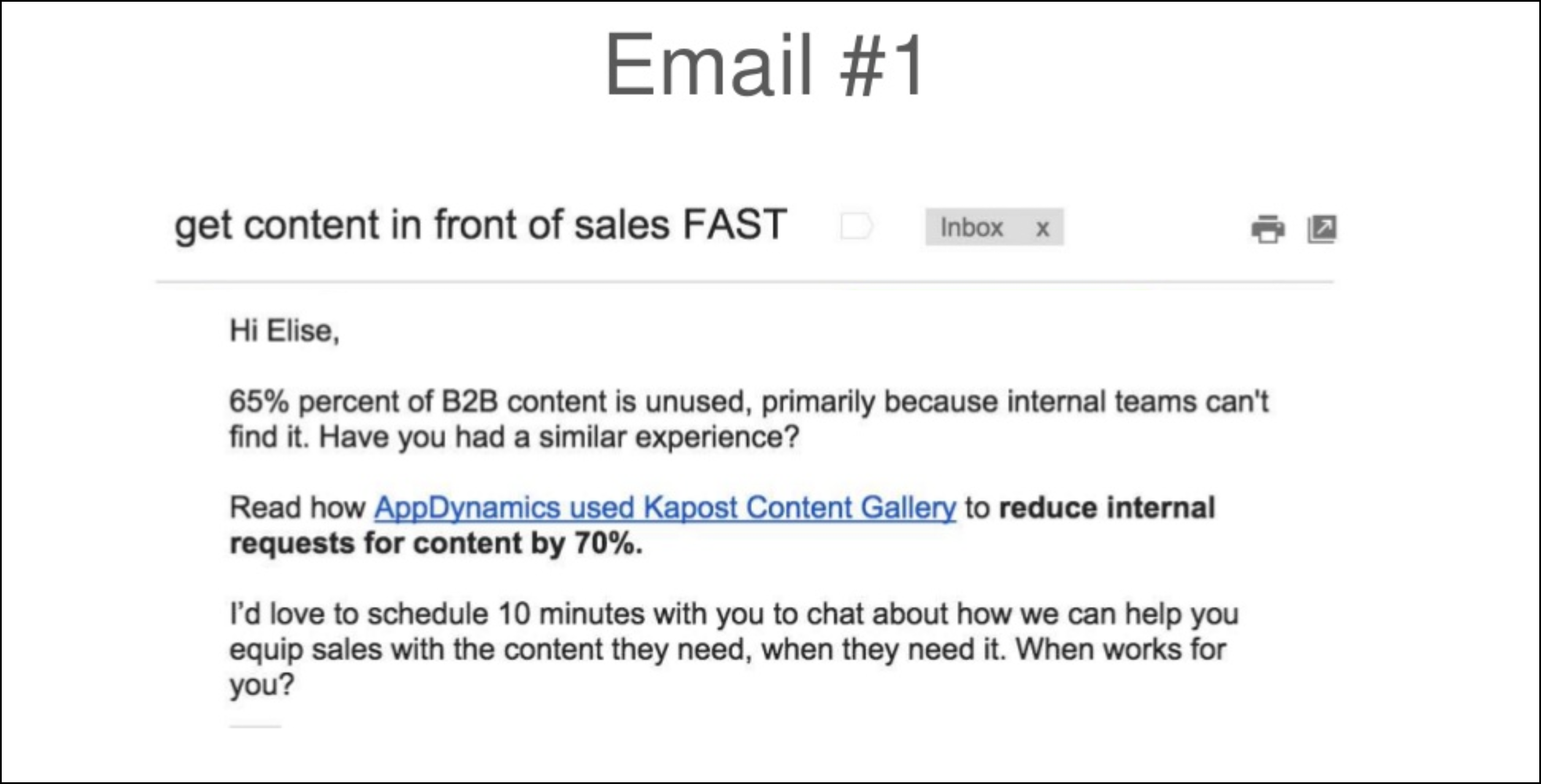 email drip campaign examples