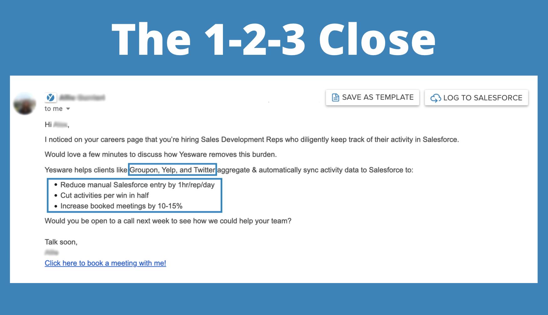 Sales Techniques: The 1-2-3 Close