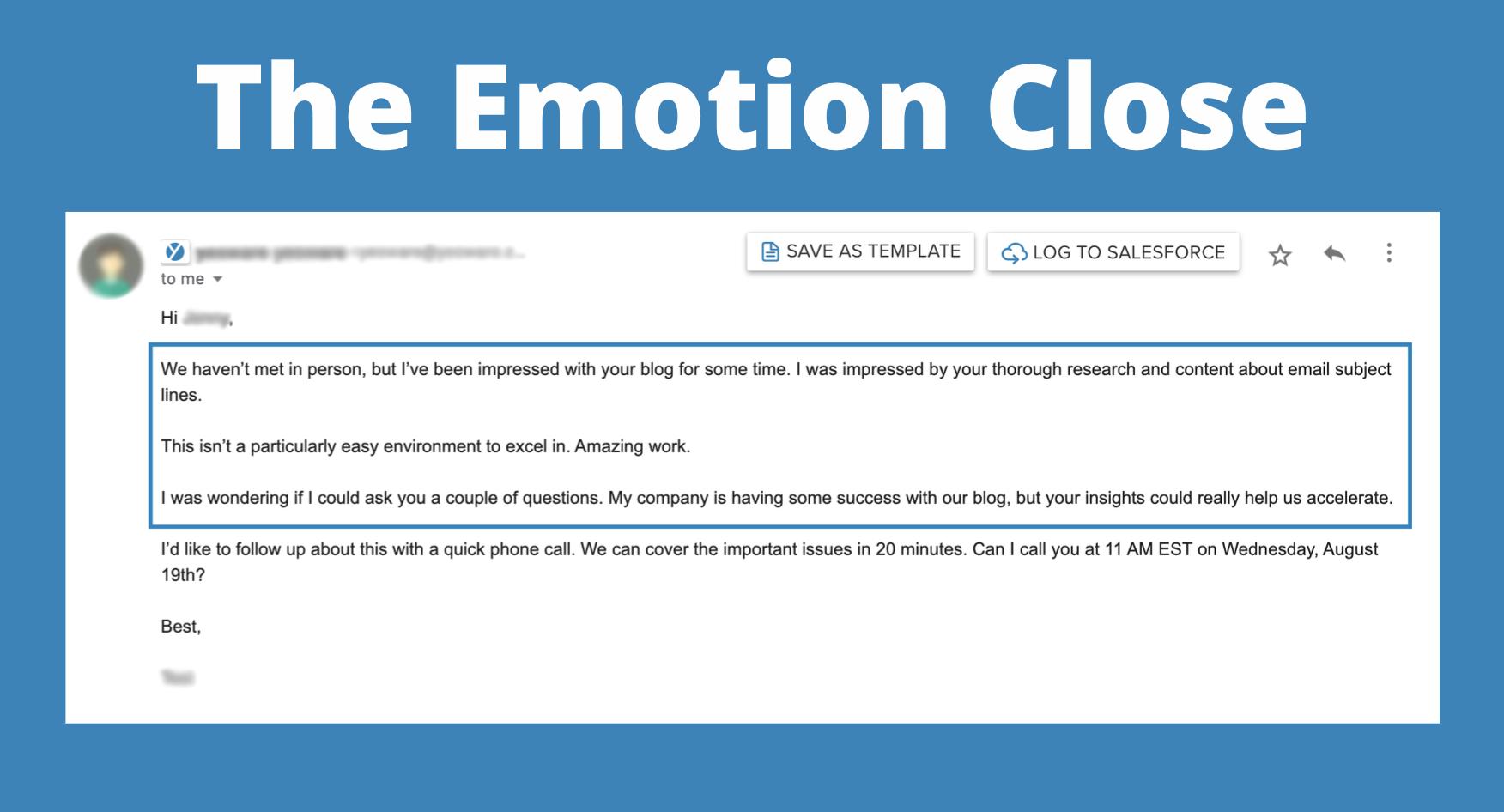 Sales Techniques: The Emotion Close