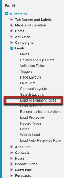 Salesforce_Customize_Leads_Assignment Rules