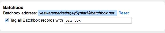 Batchbook Batchbox