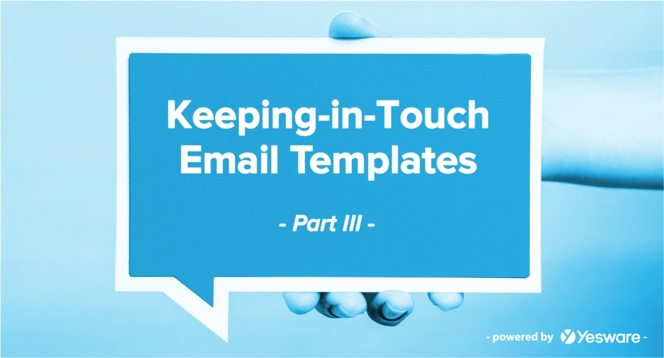 Keeping-in-Touch Email Templates