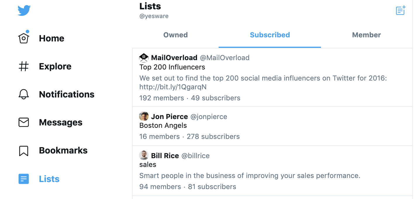 Social Selling: Twitter Lists