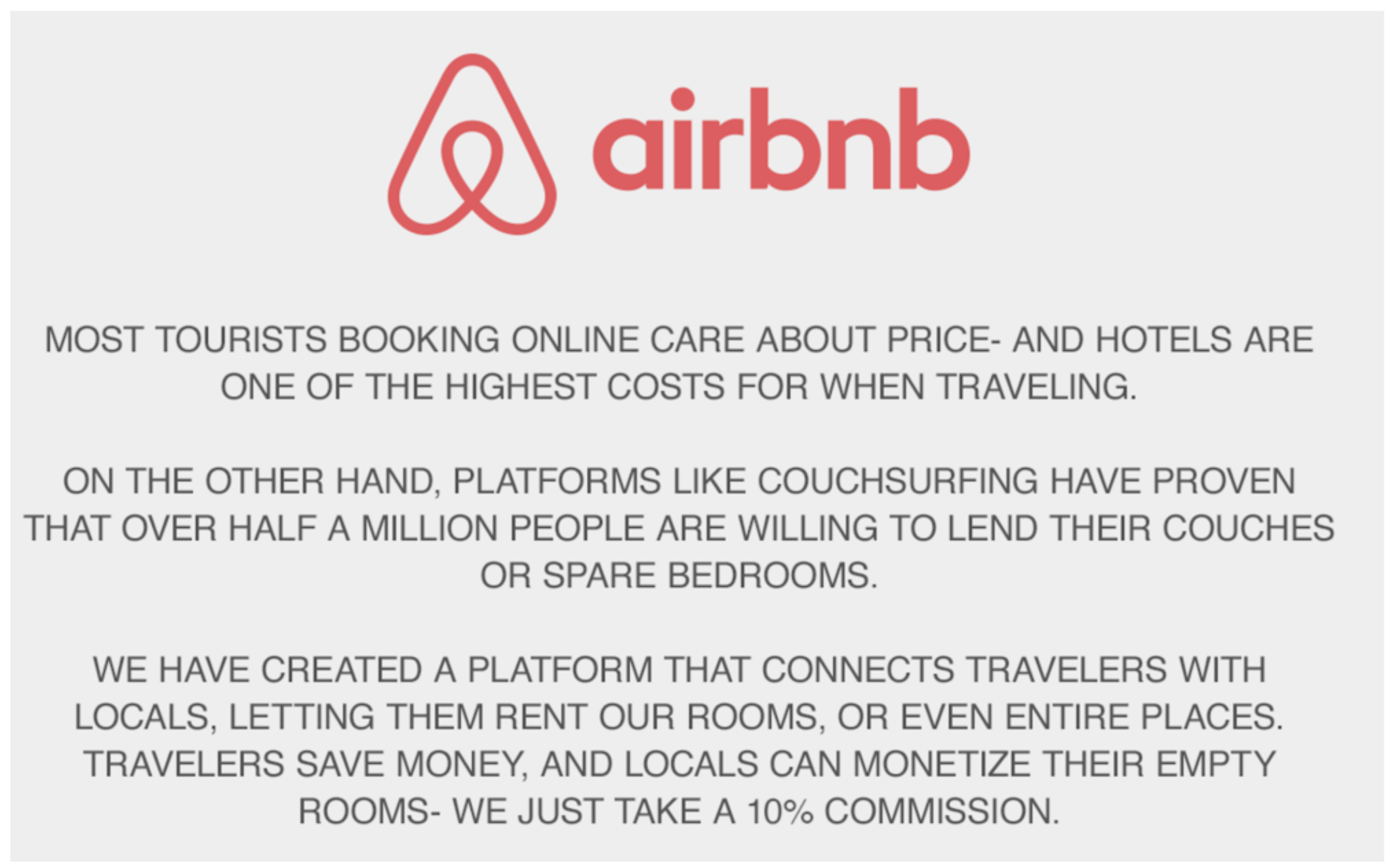 Elevator Pitch Example: Airbnb