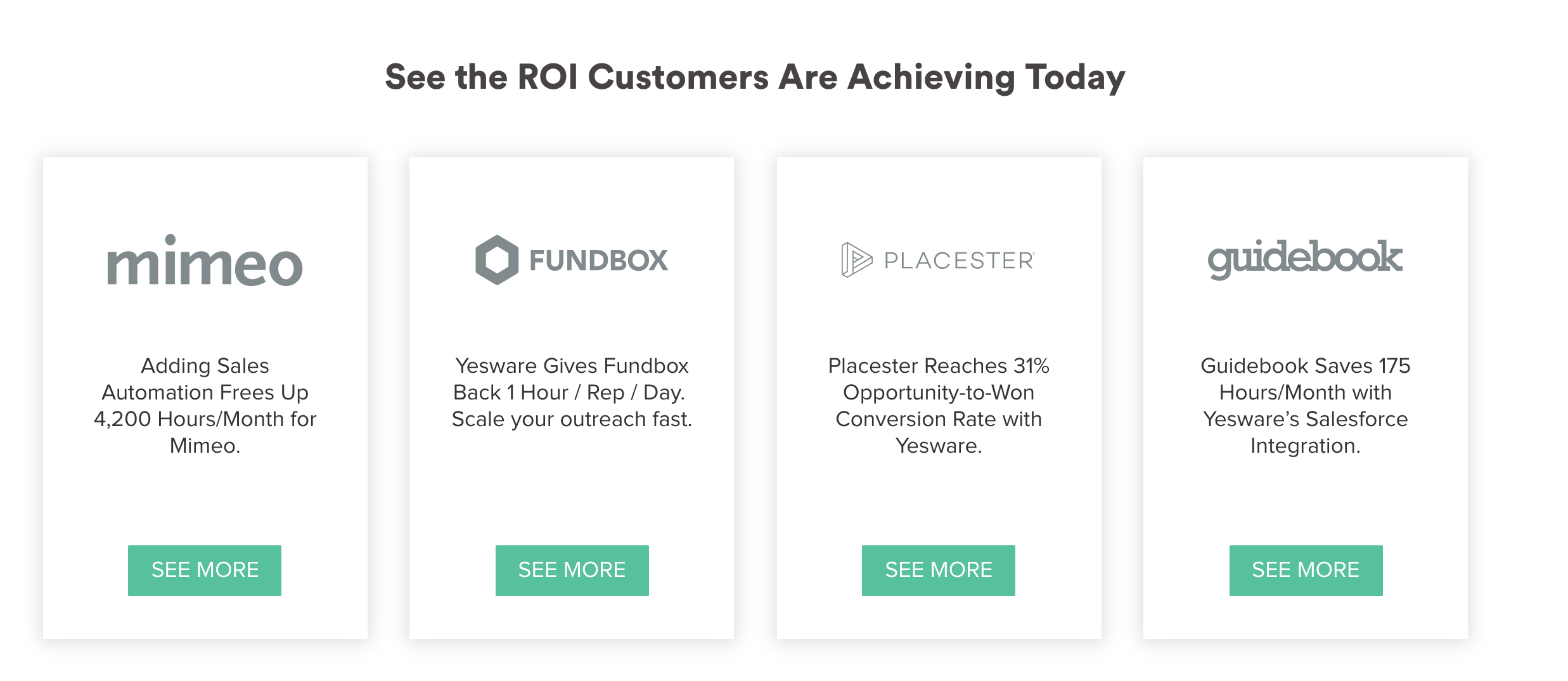 see the ROI customers are achieving today