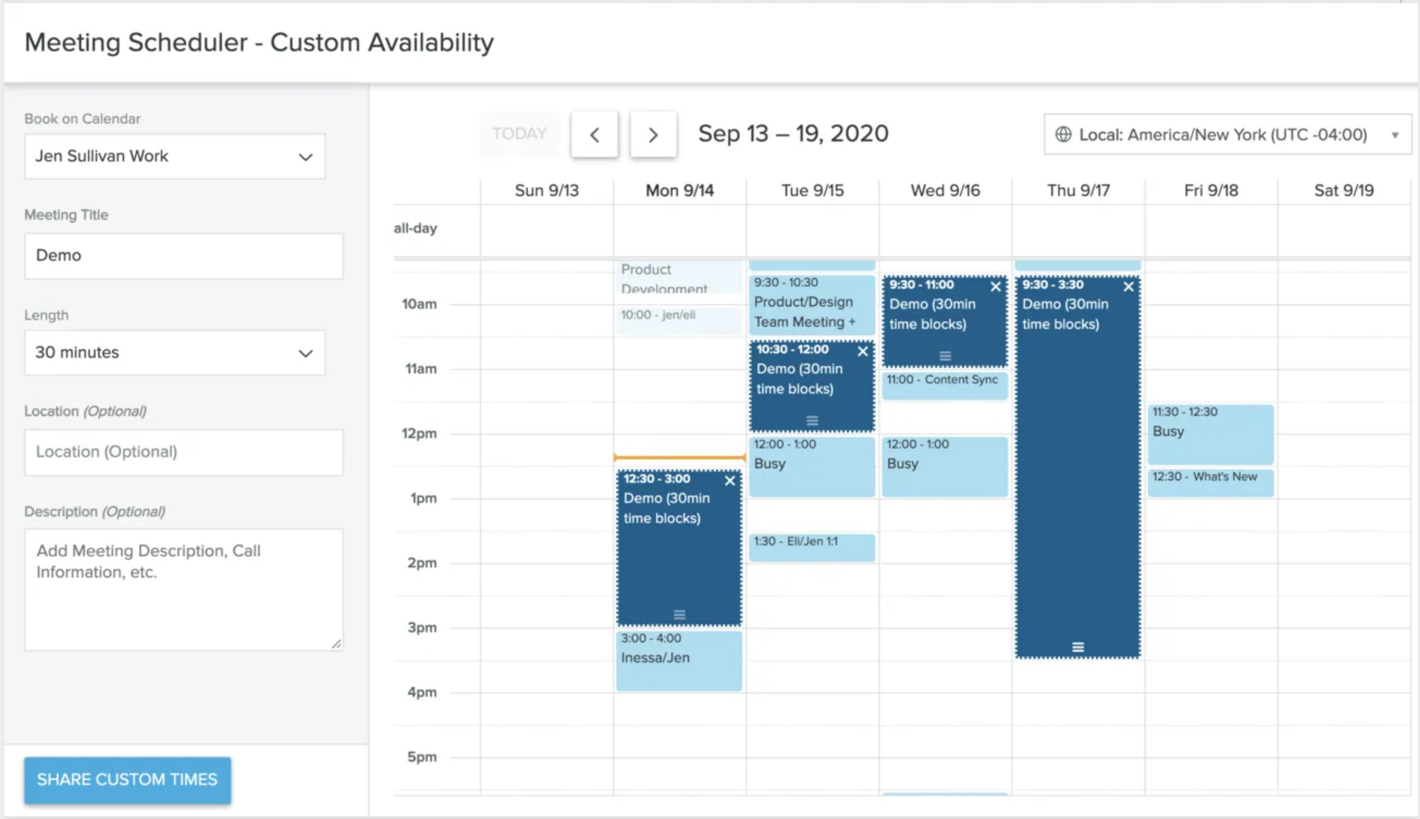 sync meetings scheduled to calendar