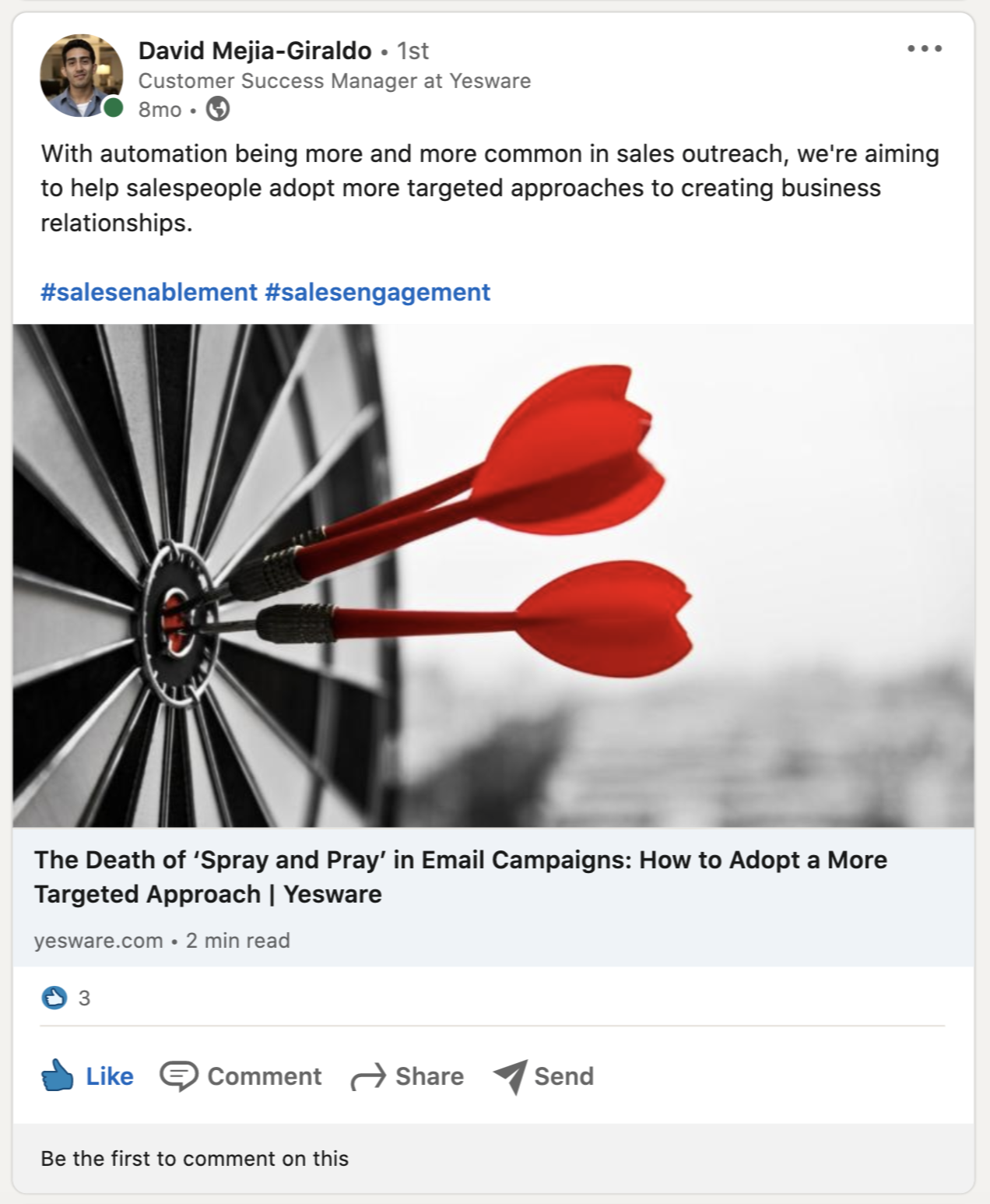 share relevant content on Linkedin