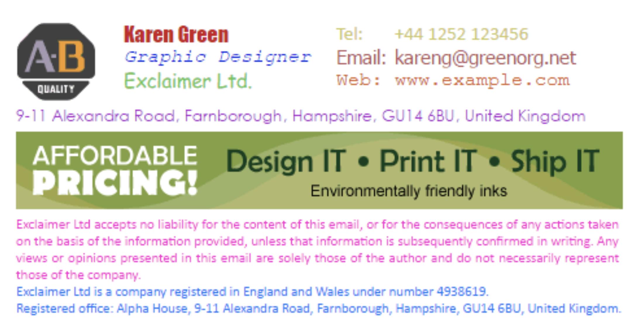 email signature dumpster
