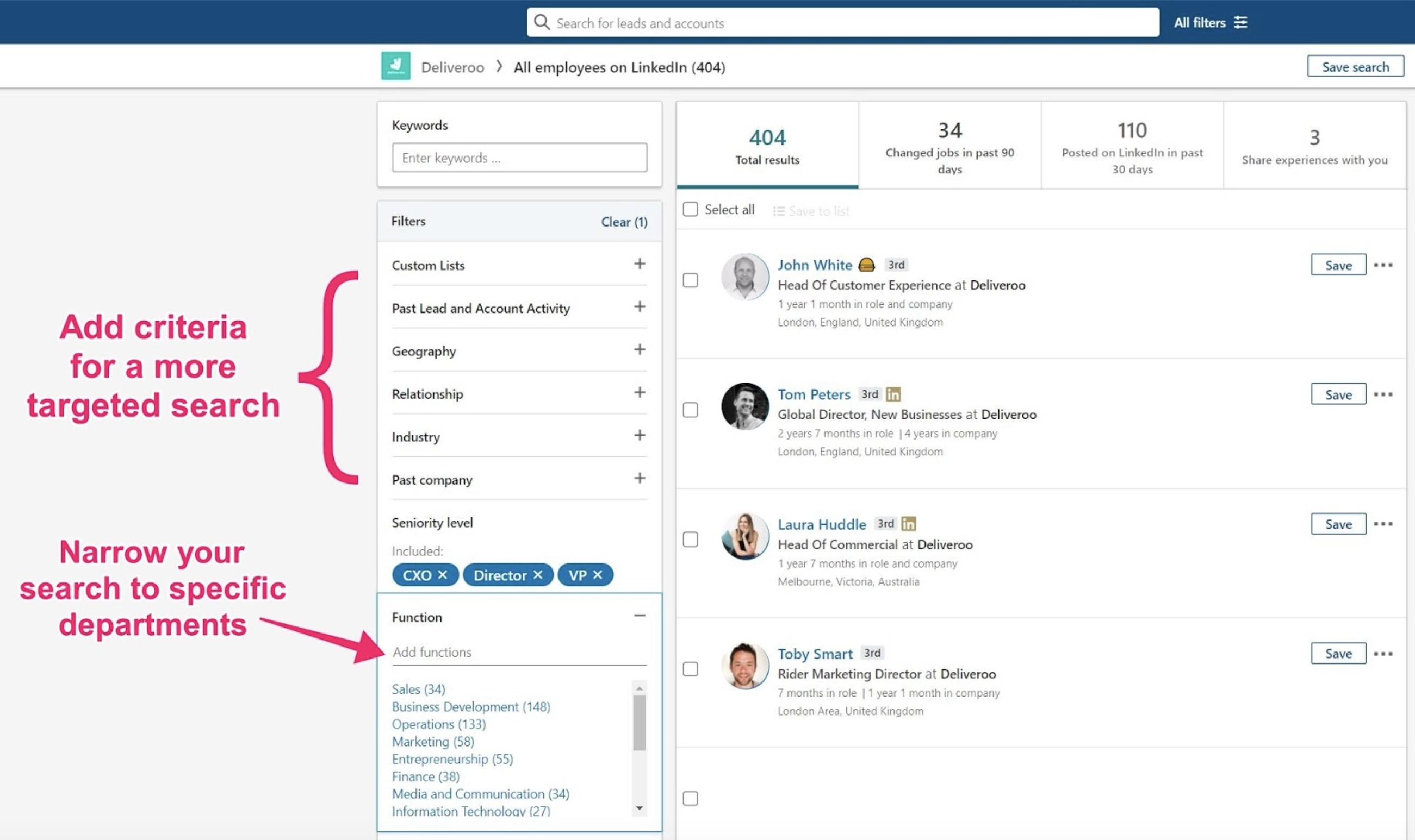LinkedIn for prospecting