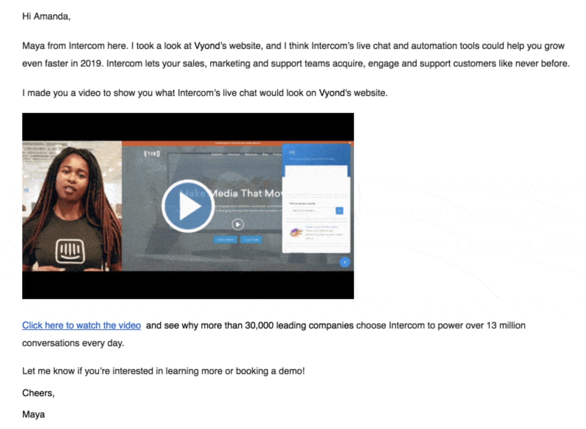 email engagement through video