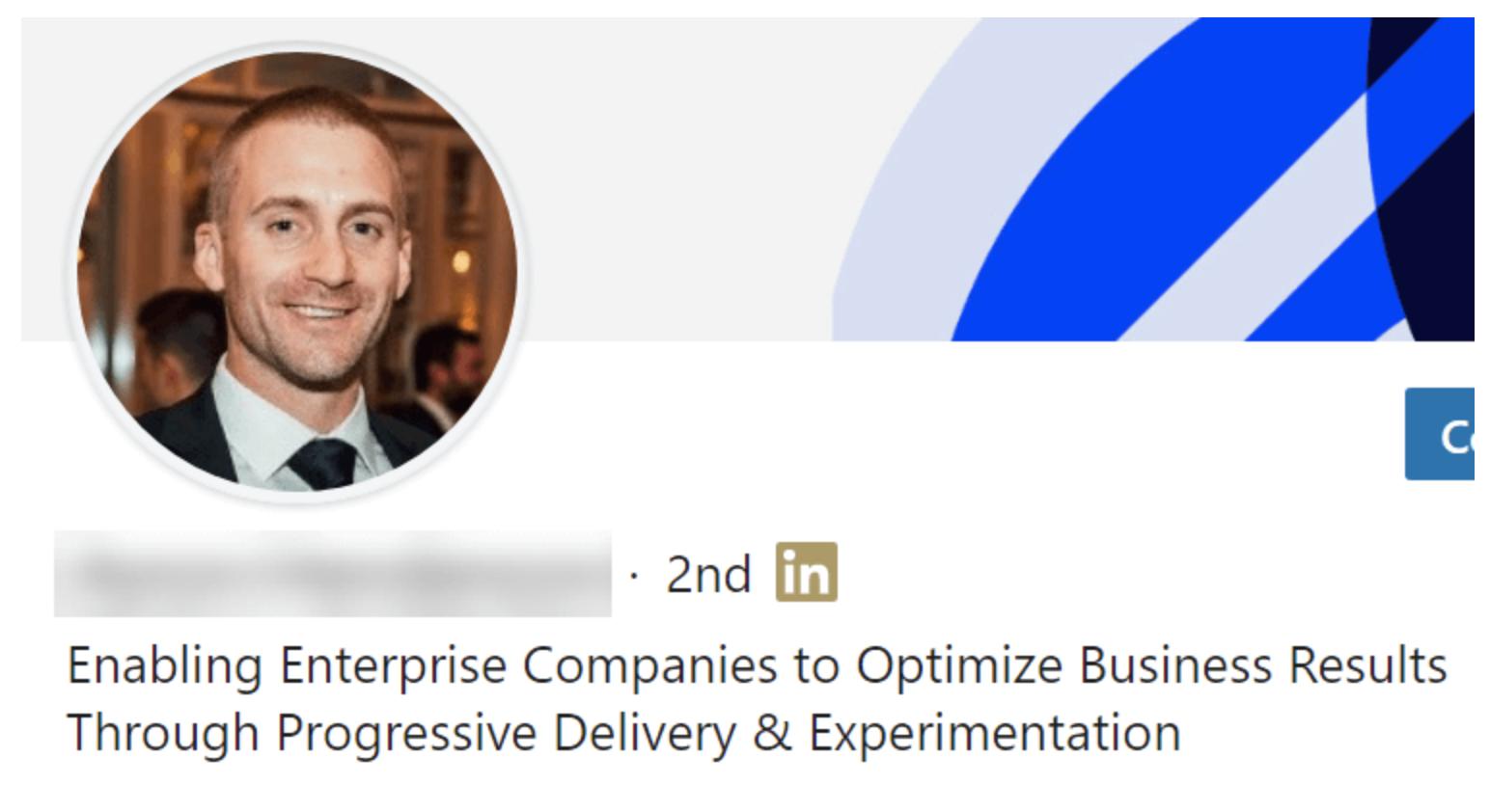 prospecting on LinkedIn - change your header