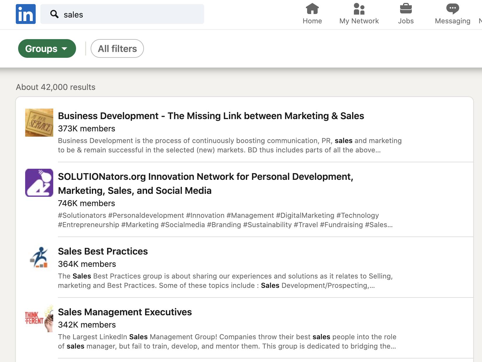 using LinkedIn for sales - LinkedIn groups