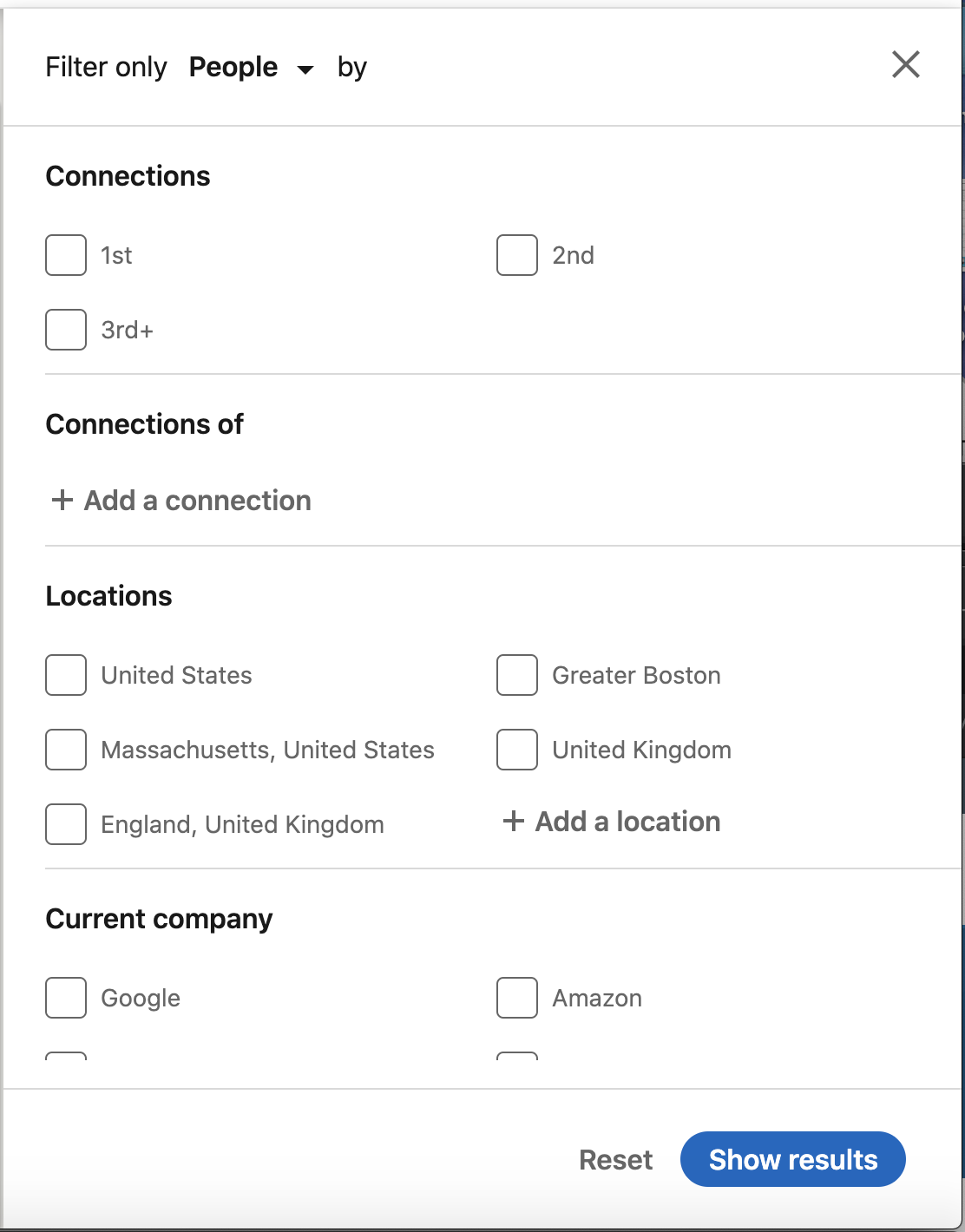 using LinkedIn for sales - search filters