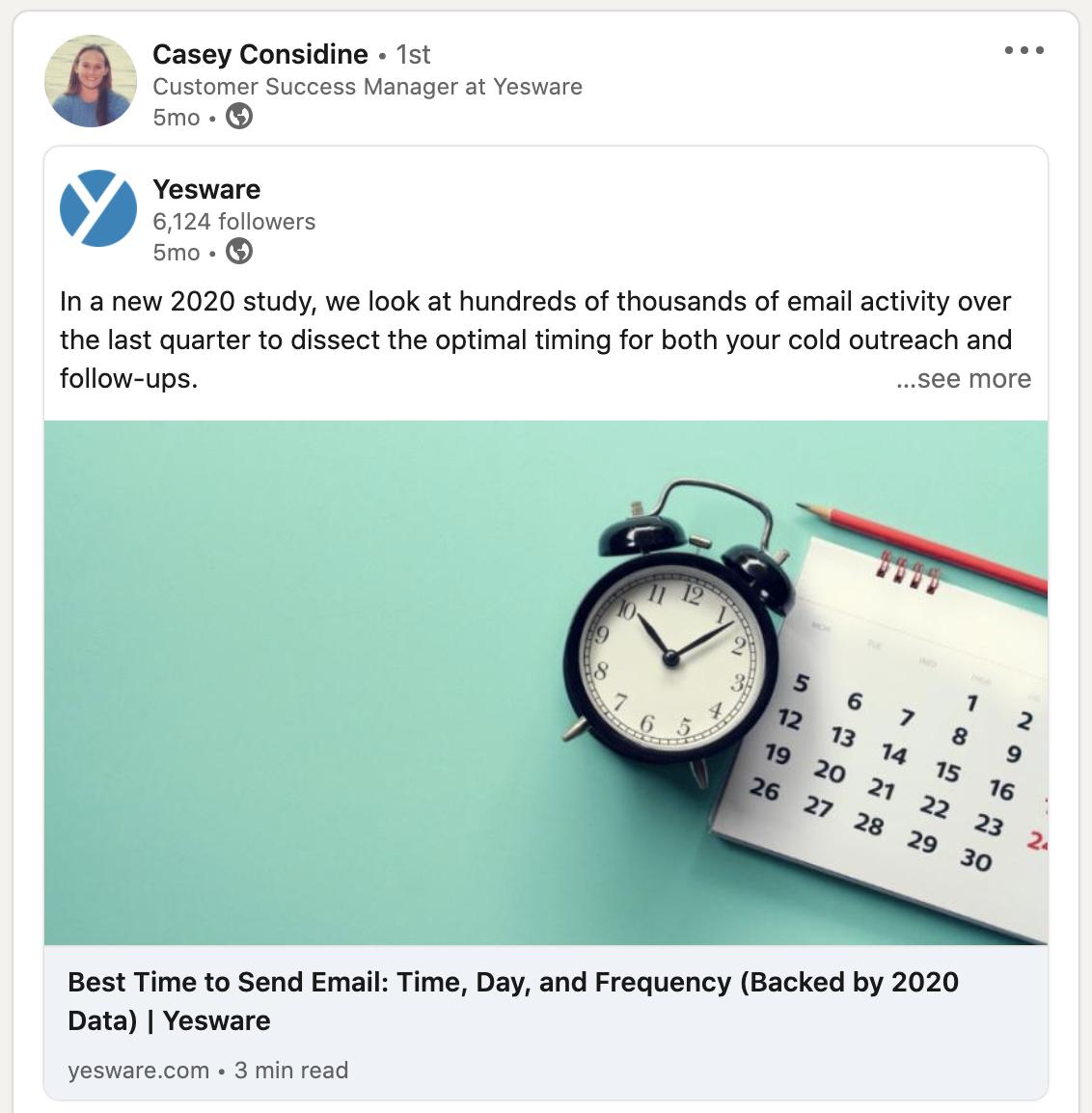 using LinkedIn for sales - posting