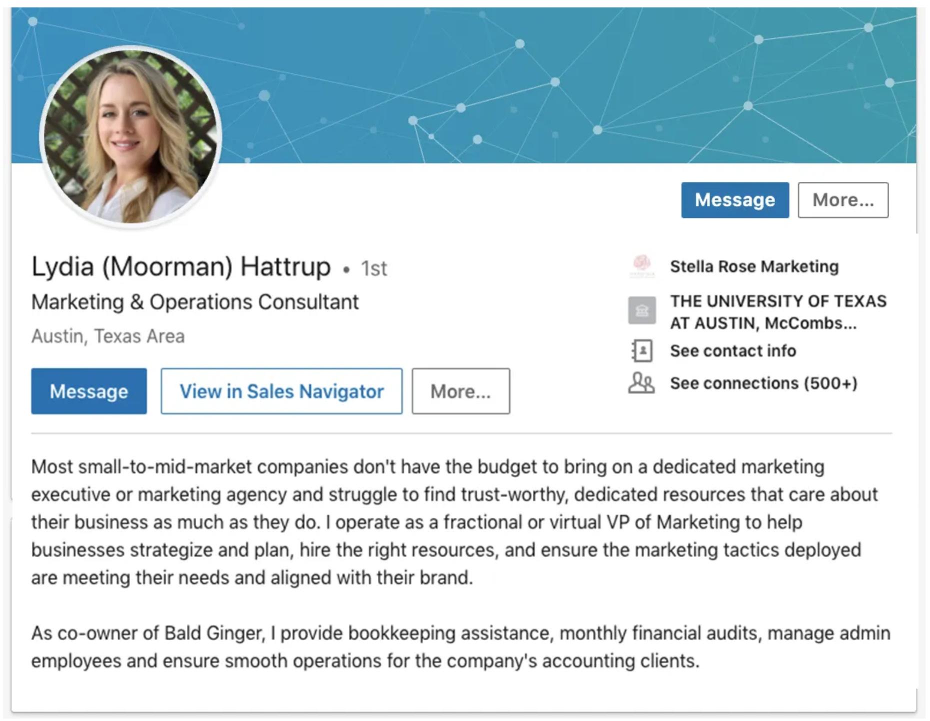 using LinkedIn for sales - prospect-focused summary
