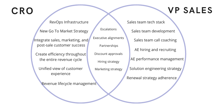 Chief Revenue Officer: cro vs vp sales