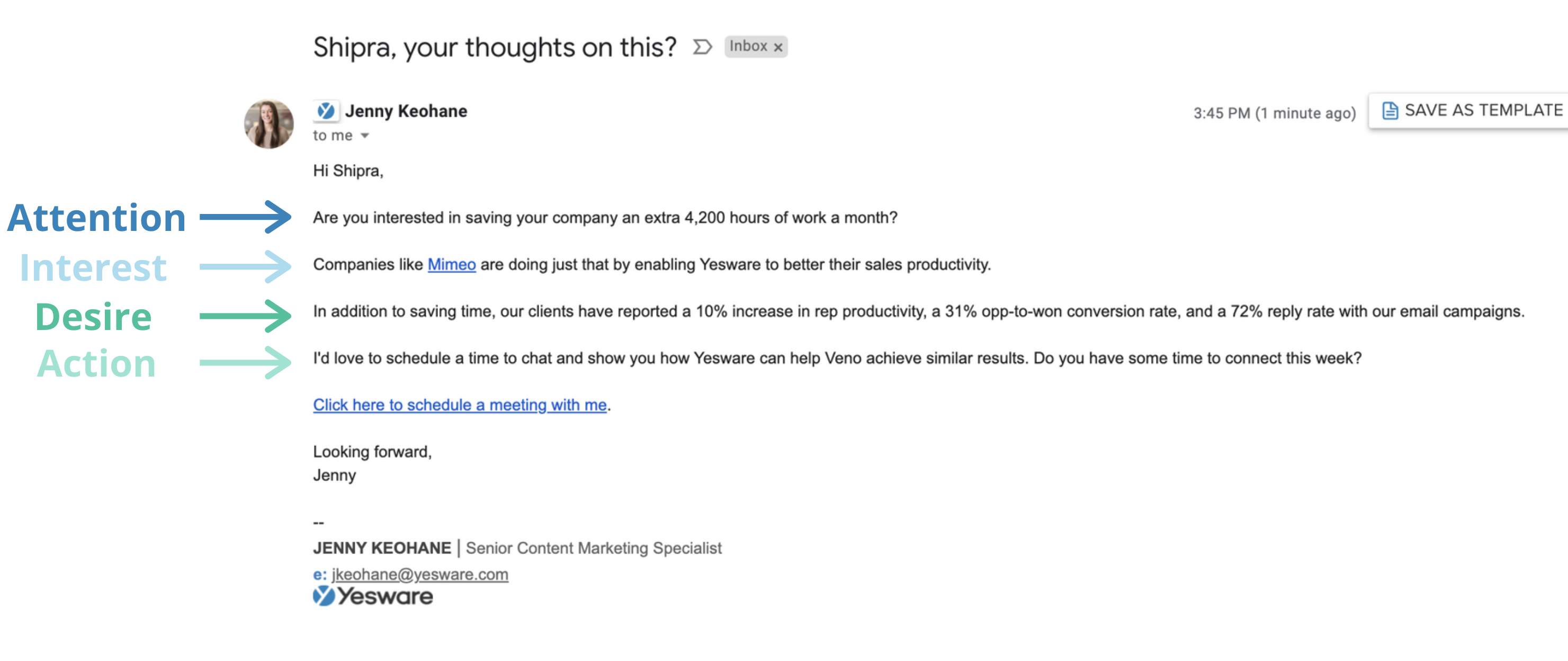 how to schedule a sales meeting: email formula/template