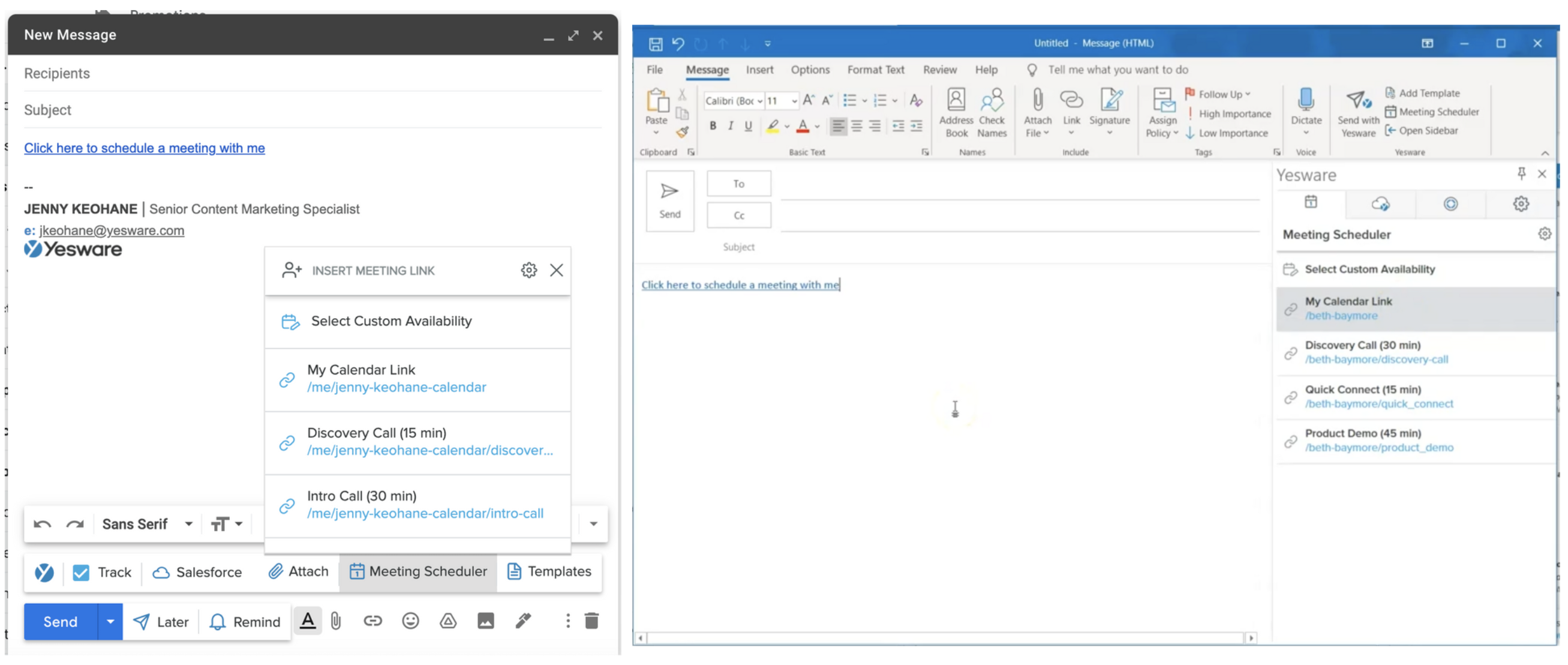 Meeting Scheduler for Outlook and Gmail
