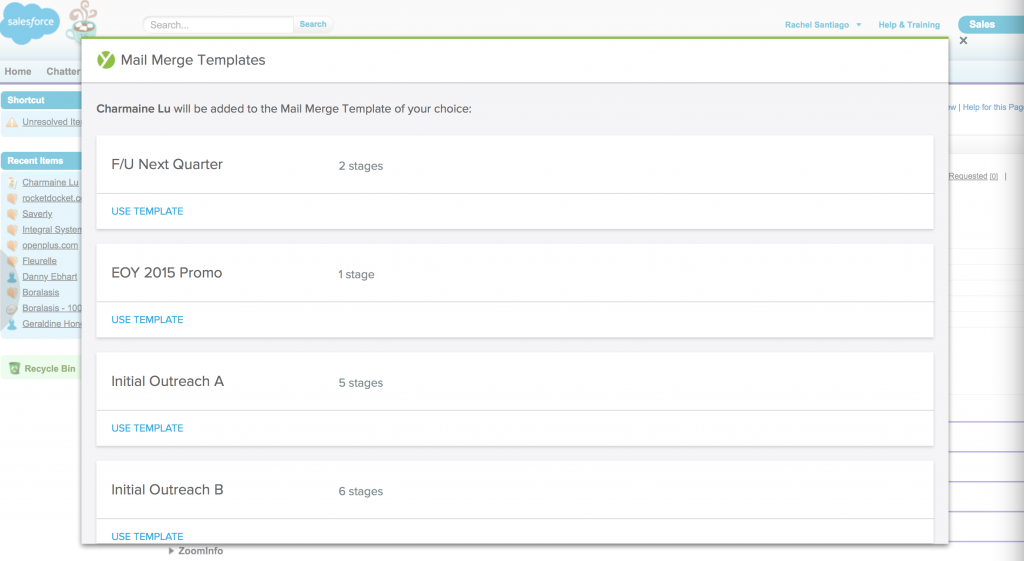 Add to MM from Salesforce 2