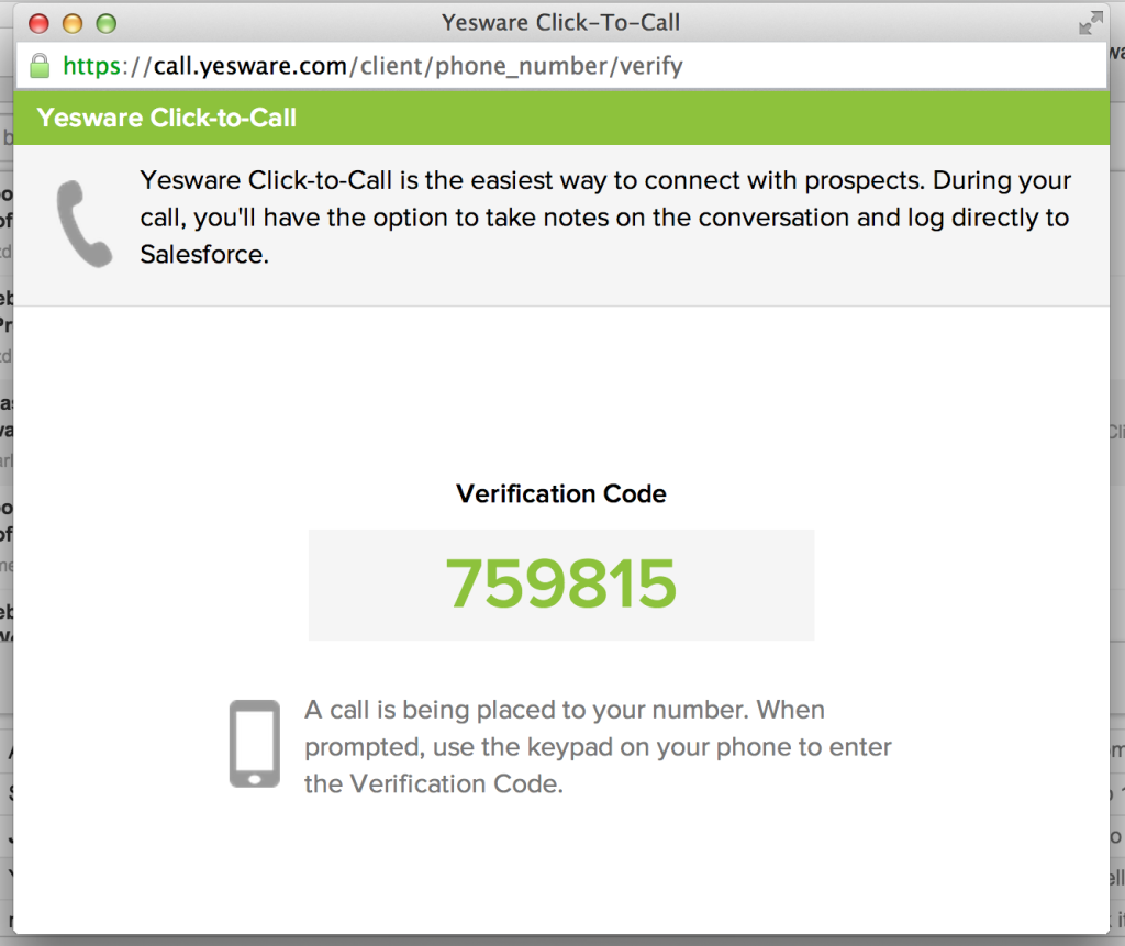 Click To Call Verification