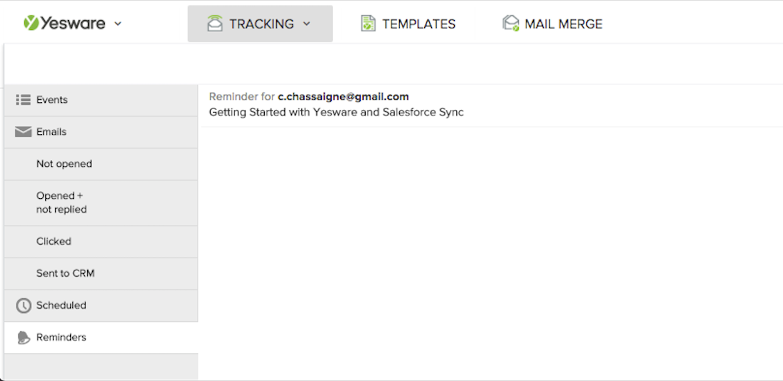Gmail_Reminders in Dashboard (small view)