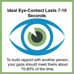 how to gain trust through eye contact