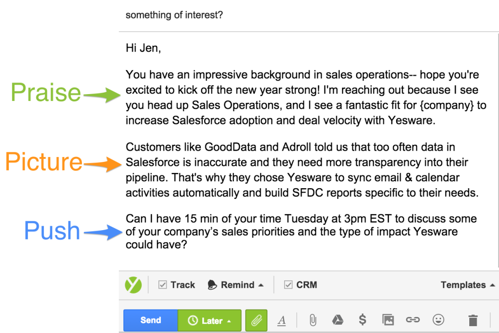 9 cold email formulas and the science behind why they work for Great sales email templates