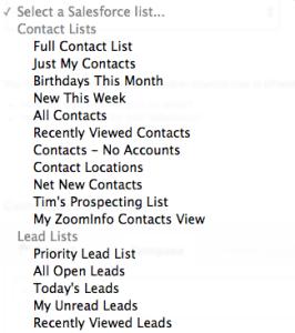 Salesforce Lists - Mail Merge