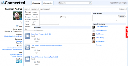 Connnected Contact Page