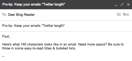 Keep Your Emails Short