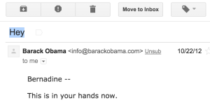 hey obama email subject line