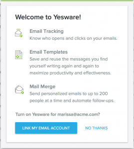 Welcome to Yesware!