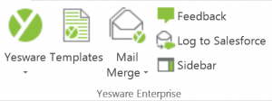 Yesware Ribbon in Outlook