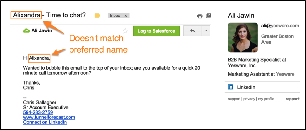 follow up email mistake 6