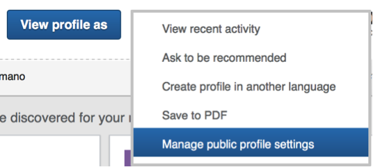 how to make your linkedin profile public
