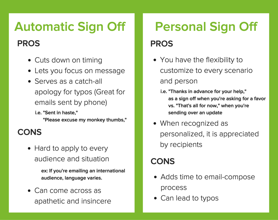 How To End An Email 15 Examples Of Professional Closings