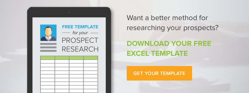Free Prospect Research Template