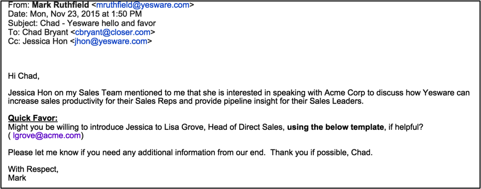 sales introduction letter sample