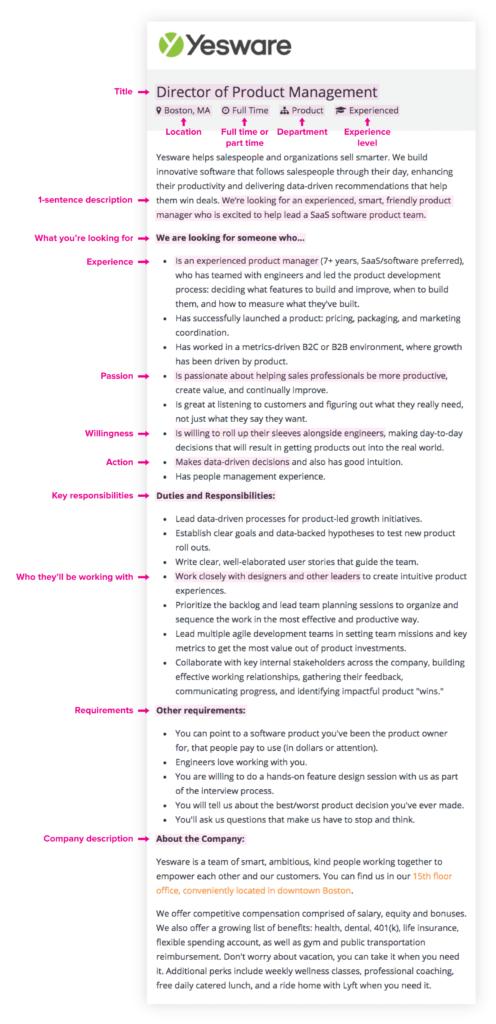 sample job description template - job description examples