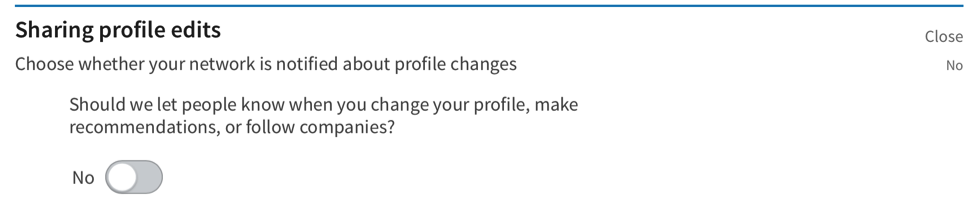 linkedin profile how to share your edits