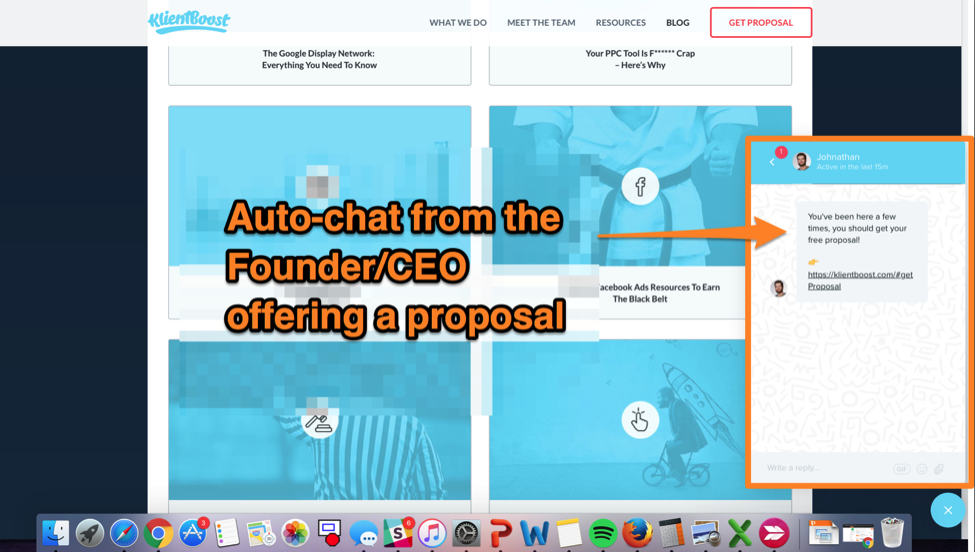 live chat from founder and ceo proposal template