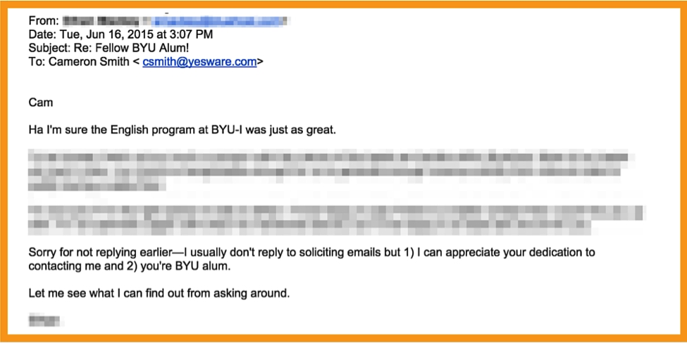 personalized emails_reply example
