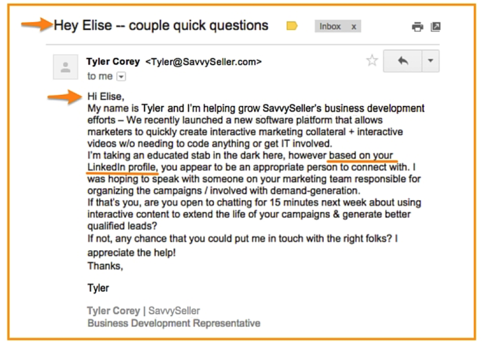 how to write personalized emails