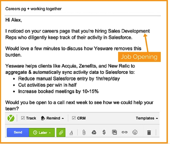 overlooked source for writing personalized emails
