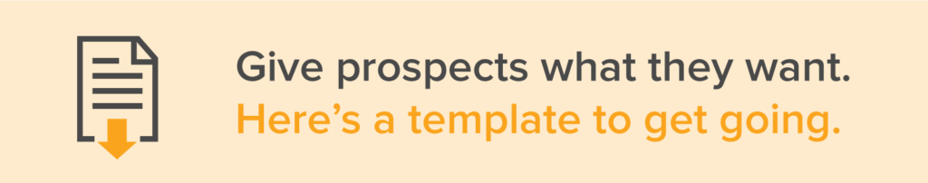 proposal template that gives prospects what they want