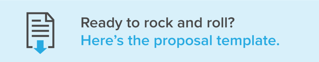 rock and roll with this proposal template
