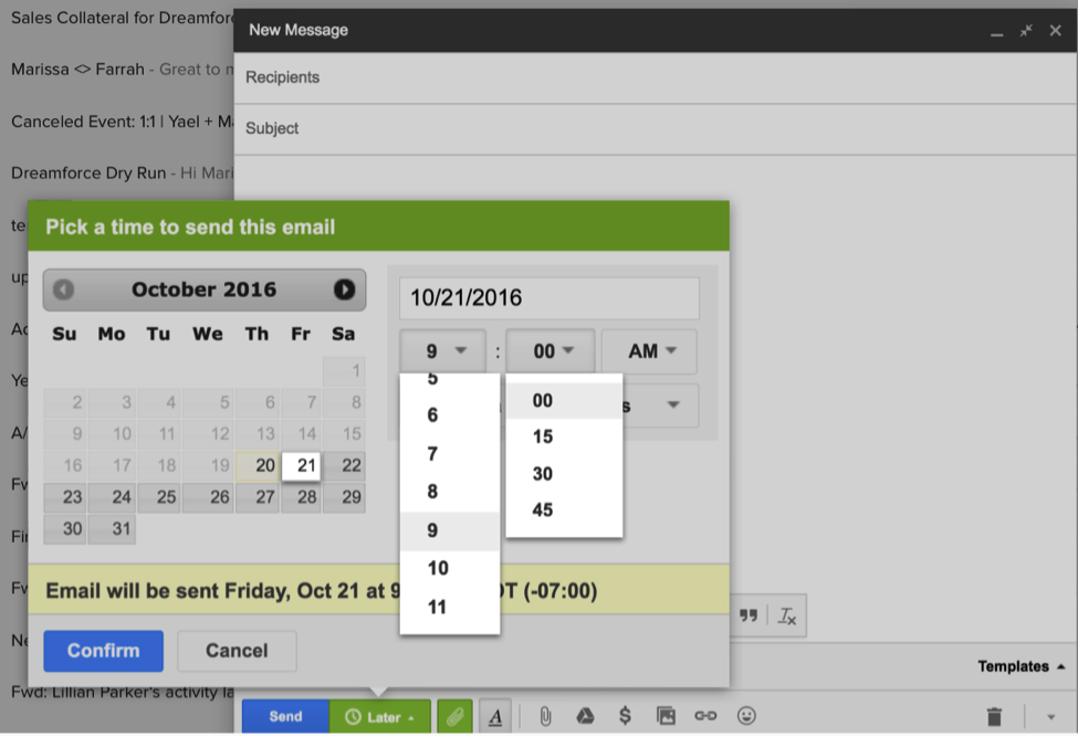 gmail extension how to schedule emails to send later