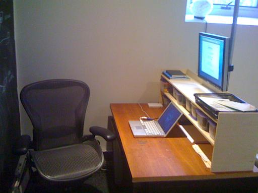 Standing Desk in sitting mode