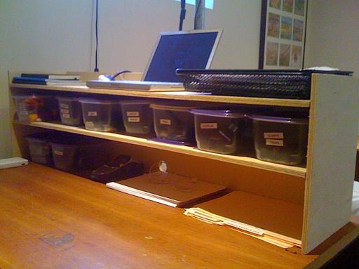 Shelf for my standing desk